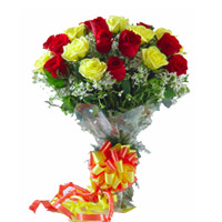 Bouquet of 12 mixed roses, Ideal for Congratulations kind of wishes.