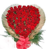 Send this wonderfull arrangement of 30 Red Roses in a Heart Shaped arrangement to your loved ones in Kakinada and Rajahmundry   <br><br> actual product may slightly differ from shown.