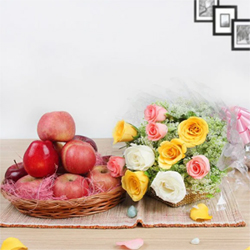 Two of the best things from nature all the way to your mom! Apples and Roses