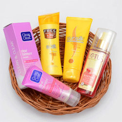 Skin and Hair Care Hamper in Basket