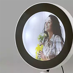 It is a mirror until you press the button, and your personalised image appears then. For Personalisation, please provide with 1 image
