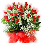 Bunch of 50 Red Roses, the best symbol of your love.