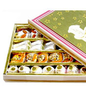 Special Assorted Kaju Mix Sweets Send a box of assorted Kaju Sweets (1/2Kg) (Packed in special decorated food-grade boxes)