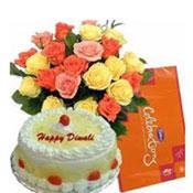 Celebration Pack +12 MixRoses +1/2 Kg Cake