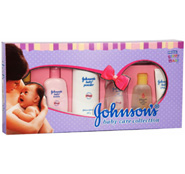 Johnson & Johnson Baby Gift hamper, Send this new born set from Johnson and johnson consisting of - Baby Powder. Cream. Hair Oil. Body Oil. Lotion. Cute Little Soft Comb.