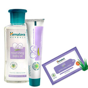 This hamper is one such gift for the cutest one. This is a gift for infant which includes- <br> - Himalaya Baby Oil 100 Ml( enriched with Olive Oil, Winter Cherry),  - Himalaya Baby Rash Cream 20 gm (enriched with Almond Oil, Yashada Bhasma)  - A Pack of baby wipes (enriched with Indian Lotus, Aloe Vera). <br>The Himalaya baby products will take good care of the delicate skin of the little toddler. Send this caring hamper for infant to India.