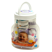 Send this Babycare Gift Jar to India for the little guest. <br> Net contents : <br> Gentle Baby Shampoo: 100 ml Moisturizing Baby Soap: 75g Baby Powder: 100g <br>The Himalaya baby products will take good care of the delicate skin of the little toddler. Send this caring hamper for infant to India.