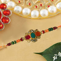 Stylish & Elegant Kundan With Stone Work Rakhi