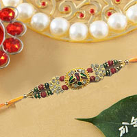 Fancy & Designer Rakhi in Kundan With Stone & Meenakari Work<br> <br> <b> Out of Stock </b>