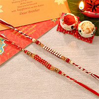 Beautiful Set of Two Rakhis
