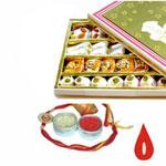 500gr Special Assorted Kova Mix Sweets Rakhi and Roli Chawal