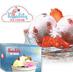 Delicious Strawberry flavoured 1ltr ice cream Ice Cream  Note: Flavour & brand is subject to the availability in the recipients region.