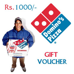 Then you can send these exclusive gift vouchers of Dominos Pizza The gift vouchers worth 1000 Rupees