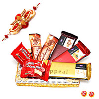 There are three different types of Temptations, 2 Galaxy Chocolates and 2 chocopies.And 1 free rakhi