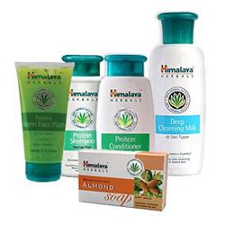 Himalaya Protein Shampoo - 200 ml. Himalaya Protein Conditioner - 100 ml.<br> Himalaya Moisturizing Almond Soap - 100 gm<br> Himalaya Deep Cleansing Milk - 200 ml.<br> Himalaya Purifying Neem Face Wash - 100 gm.<br>