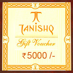 Send Tanishq gift Voucher worth Rs.5000/- Add to your woman''s grace and let her shimmer in glory of timeless beauty.  This Voucher will make a perfect gift for your loved ones.