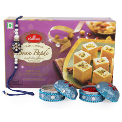 Soan Papdi Pack of 1/2kg, and  warm wishes to your brother on this Rakhi.