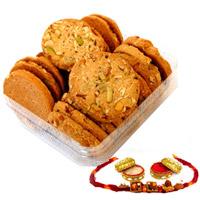500 gms Dryfruit cookies With rakhi