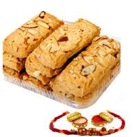 500 gms ALMOND COOKIES RAKHI WITH COOKIES