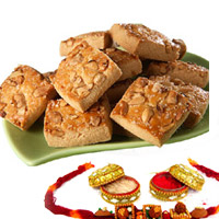 500 gms Crunchy and tasty with the richness of cashew nuts.RAKHI WITH COOKIES