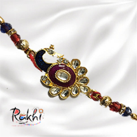 Peacock Rakhi,  Studded with beautiful stones.<br>