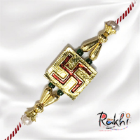 Celebrate the  auspicious festival of rakshabandhan with the beautiful designed swastic rakhi