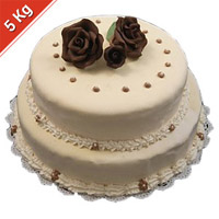 This one is a 2 tier cake that has amazing taste. You can also add other Gifts to India according to the particular occasion. Weight : 5 Kgs