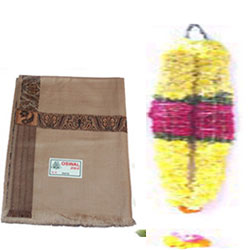 Greet your dear one with this huge Chrysanthem Flowers Ghaza Mala Make your dear one moments even more memorable by gifting this beautiful shawl
