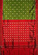 Pochampalli saree with self checks from Chandana Brothers... The color of the saree shown above is Sandalwood and brown contrast