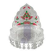 Silver Simhasan with chatri Weight : 101 gms