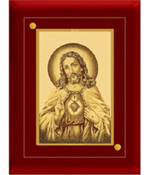 Wood Frame Jesus gold Plated Photo, Size: 4
