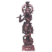 A marvelously carved Murali Krishna Idol is a complete collection of the antique idols which is carved has a high precision work craved to its beauty and this beautifully. carved out designs makes it rich and gives a precious look and also gives positive waves. Bring home or gift this spiritual idol to give positive vibrant. Height : 1 Feet approx