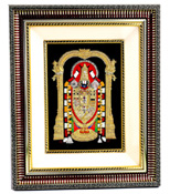 Balaji Photo Frame:  These designer frames and golden shine finish will shimmer on your wall. Glass Frame with Balaji Regular Foil - Size 1Feet approx
