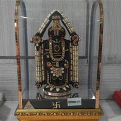 Lord  Balaji Tirumala photo frame  puja Thali Puja Mandir <br>lead time 2 working days