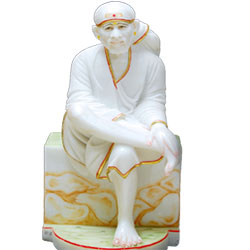 Lord Shirdi Saibaba idol - Sai Nath Murti - Puja idols - Sai baba statue for home and office 
