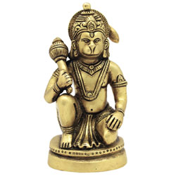 God Idol Lord Hanuman Ji Murti Statue Handcrafted Brass