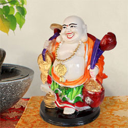laughing buddha idol for home and office decor antique decorative handicraft sculptures showpiece statue  <br>lead time 2 working days
