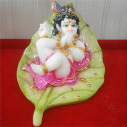 Bal gopal krishna idol of leaf lead time 2 working days