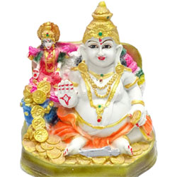 Paras Kuber Lakshmi Idol Product Material- Polyresin 