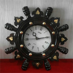 India Quartz Pendulum Wooden Color WALL CLOCK