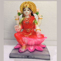 Lakshmi Goddess idol religious hindu God showpiece (H-10 CM))<br> Material:- Polyresin Color:- multi colour<br> delivery lead time : 2 working days