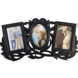 family photo frame  height : 8inch , widht :24 inch <br> Material:- Plastic <br> Color:-teak wood colour <br> delivery time : 2 working days
