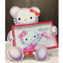 hello kitty photo frame height : 10inch , widht :6inch  <br> Material:- Plastic <br> Color: white colour <br> delivery time : 2 working days