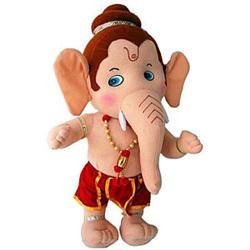 Lord God Bal Ganesha plush teddy bear