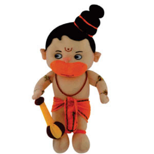 Soft Toy- Lord Hanuman teddy bear, height : 30cms approx