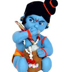 Soft Toy- Lord Bal Krishna teddy bear, height : 30cms approx