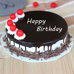 1 Kg Black Forest Birthday Cake to your near and dear, Quality Cakes from Best Bakeries., Cakes to Bangalore