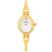 Titan White Dial Analog Watch For Women-NF340YM01