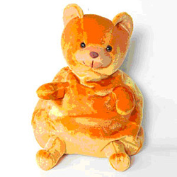 Entice your dear ones in India by gifting this lovely Orange Bear Bag on any occasion .<br>Size : Height 40 cm