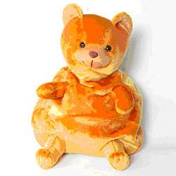 Orange Bear Bag